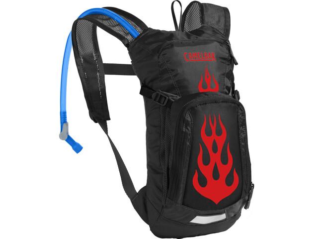 CamelBak Mini M.U.L.E. Hydration Pack 1,5L Kids black/flames